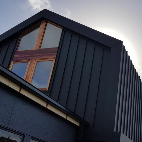Colorbond Matt Monument Standing Seam Cladding